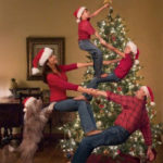 クリスマスパーティーイベントを題材にした面白写真