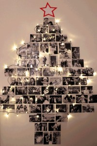 写真で作ったクリスマスツリー