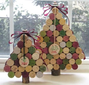 コルク栓で作ったクリスマスツリー