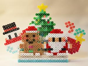 アイロンビーズで作ったクリスマスツリー