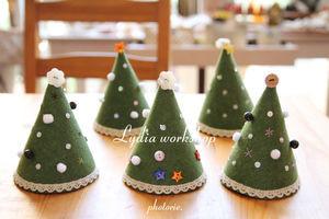 フェルトで作ったクリスマスツリー