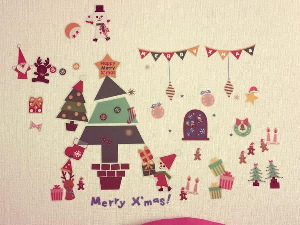 クリスマスのウォールステッカー・セリア