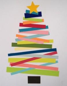 マスキングテープで作ったクリスマスツリー
