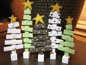 クラフトスティックで作ったクリスマスツリー