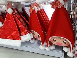 サンタクロースの帽子、ダイソー